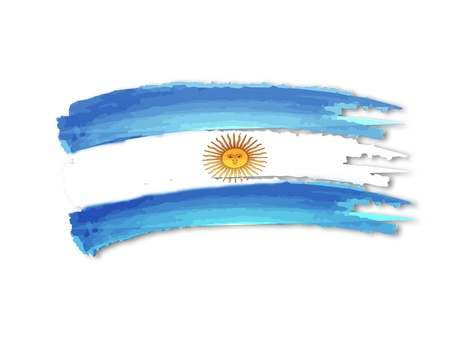argentinean: illustration of isolated hand drawn Argentine flag