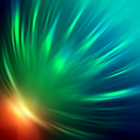 wreathe: abstract colorful rays lights over dark background