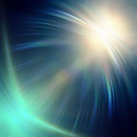 abstraites néon lumières bleues rayons sur fond sombre