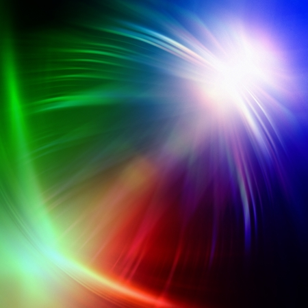 wreathe: abstract rainbow colorful rays lights over dark background