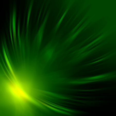 wreathe: abstract green rays lights over dark background
