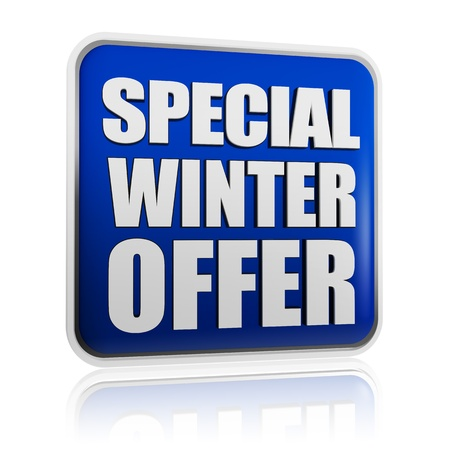 special winter offer 3d blue banner with white text, business concept Stock Photo - 16228999