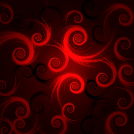 abstract red and black spirals over dark background photo