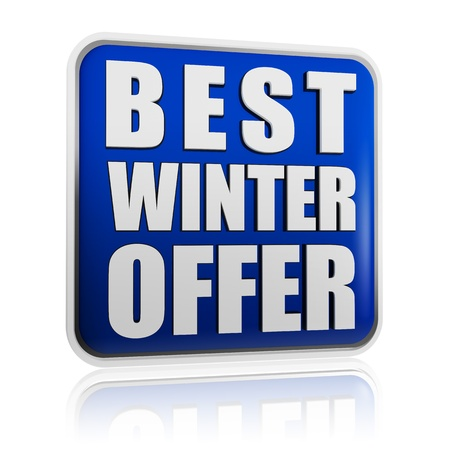 best winter offer 3d blue banner with white text, business concept Stock Photo - 16229076