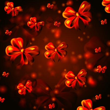 abstract background with red ribbons, christmas card Stock Photo - 16229118