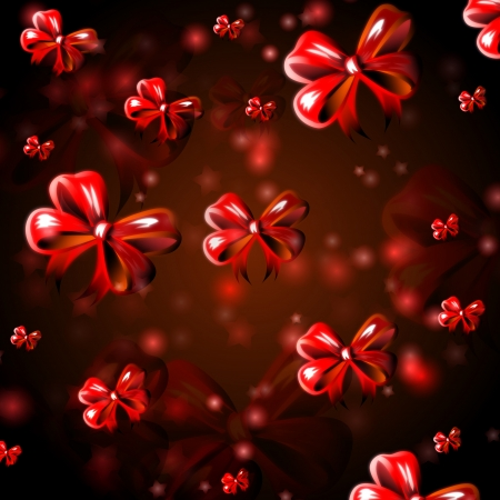 abstract background with red ribbons, christmas card Stock Photo - 16428597
