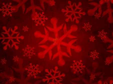 abstract red background with illustrated striped snowflakes, retro christmas card photo
