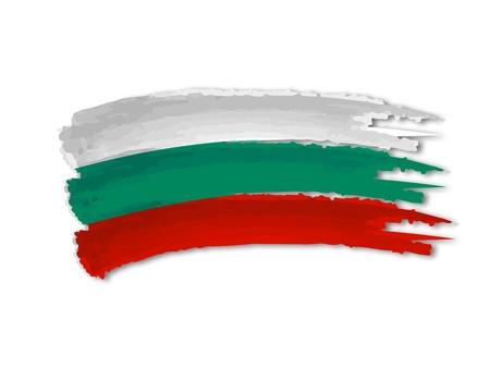 illustration de main isolé établi drapeau bulgare