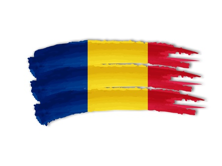 illustration of isolated hand drawn Romanian flag Stock Illustration - 17211749
