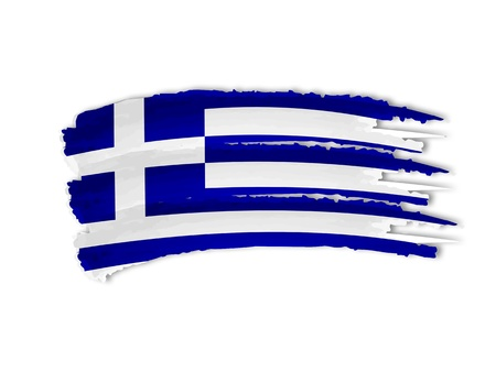 independency: illustration of isolated hand drawn Greek flag