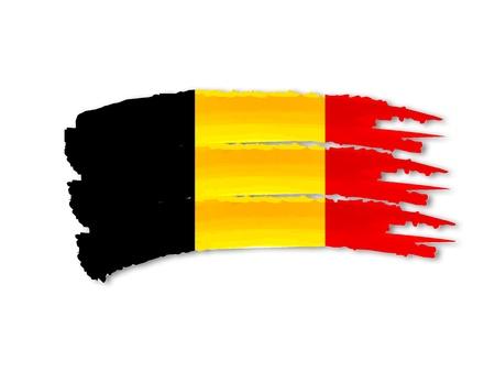 illustration of isolated hand drawn Belgian flag Stock Illustration - 17231390