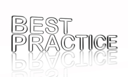 best result: best practice text - 3d isolated silver metal wire letters with reflection