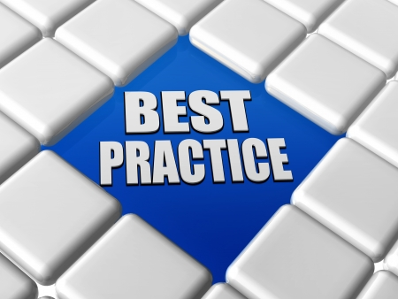 best practice - text in blue between 3d grey boxes keyboard photo