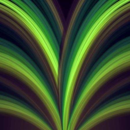 abstract background green rainbow lines like fountain photo
