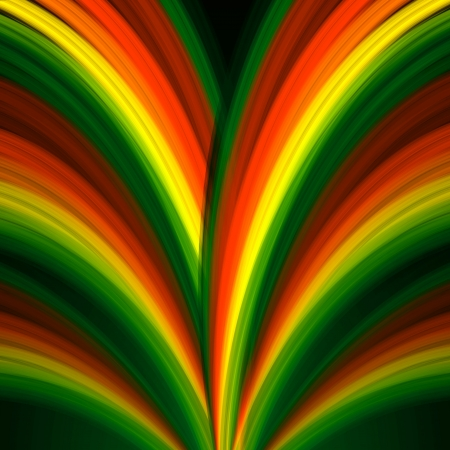ray trace: abstract background multicolored rainbow lines like fountain Stock Photo