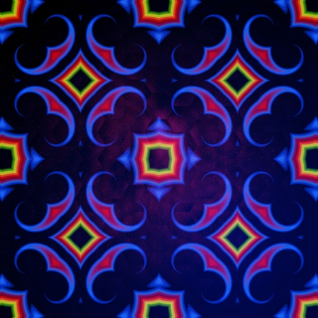 vintage abstract blue background oriental ornament kaleidoscope photo