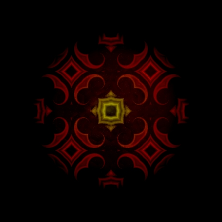 vintage abstract background, dark red oriental ornament kaleidoscope photo