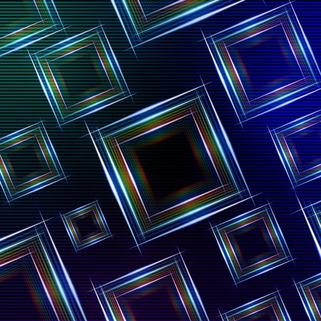 nuance: abstract blue green background with shining multicolored squares and lights
