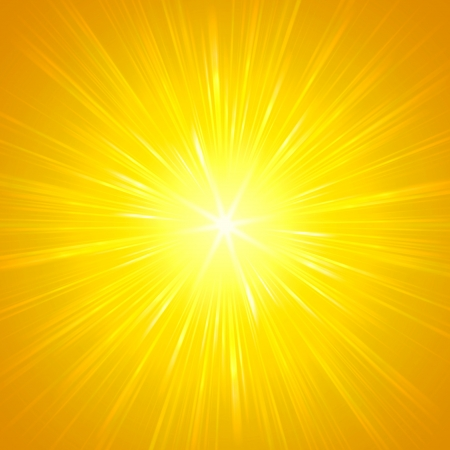 lustrous: abstract  background, yellow star with shining light rays