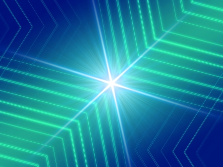 Abstract background glowing lines with ray light