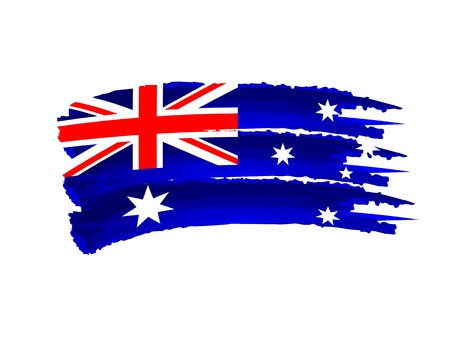 Illustration of Isolated hand drawn Australian flag illustration