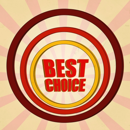 best choice red 3d text and circles photo