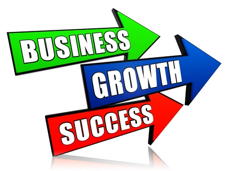 headway: business, growth and success - text in 3d arrows, business development concept words Stock Photo