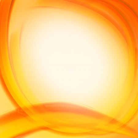 ocher: autumn background with abstract orange yellow circles, frame with text space Stock Photo