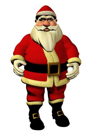 twelfth night: Santa Claus - isolated 3d model, christmas holiday illustration