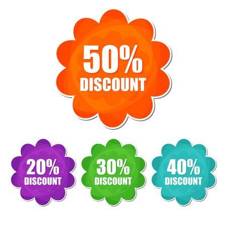 20 30: 20, 30, 40, 50 percentages spring discount banners