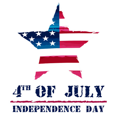 star in USA drawing flag and 4th of July - Independence Day, american holiday concept