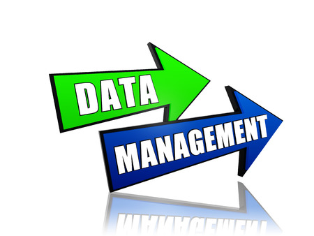 classification: data management - text in 3d arrows, business organizing concept words Stock Photo