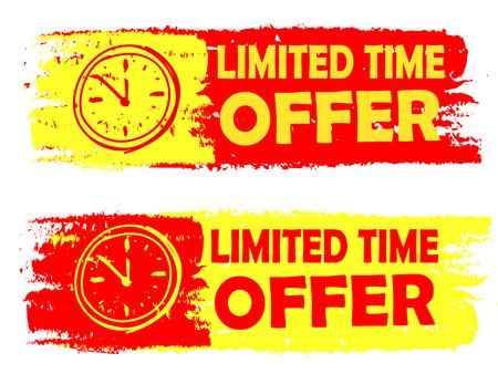 oferta por tempo limitado, com sinais de clock banners - texto em r