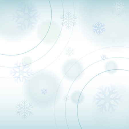 blue light background: christmas holiday card, light blue background with snowflakes, winter seasonal concept