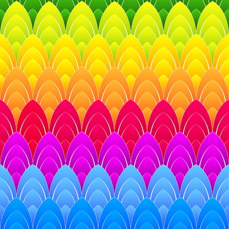 elliptic: abstract background with concentric rainbow colourful ellipses, vector Illustration