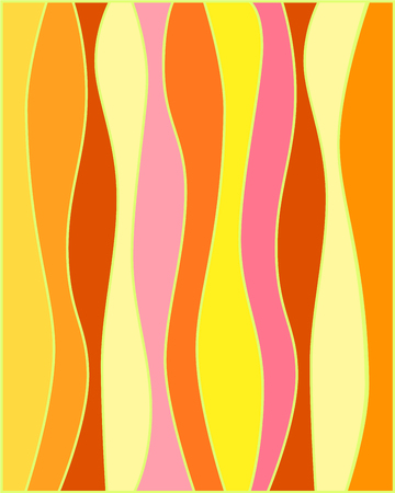 warm colors: abigarrada bandera con los colores cálidos de luz en colores pastel, vector