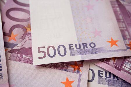 Five hundred euros banknotes hologram