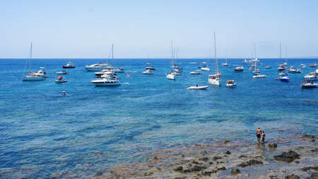 Tabarca Isle bay vacation beautiful day on water