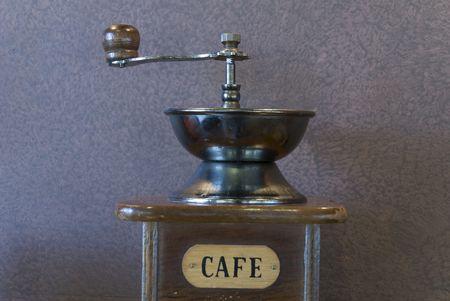 caffiene: Old caffee gringer lika a decoration element Stock Photo