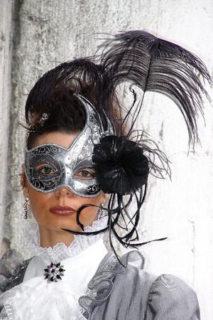 carnevale: Typical colored Carnival Mask in Venezia
