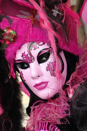 carnevale: Typical colored Carnival Mask in Venezia