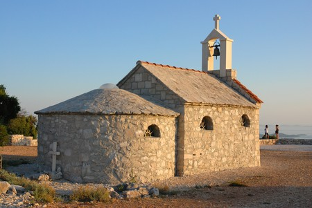 Chapel near the Adriatic Sea, nature park