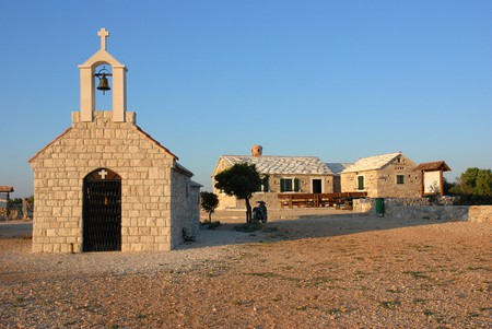 Chapel near the Adriatic Sea, nature park  Stock Photo - 4104880