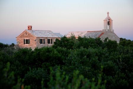 Chapel near the Adriatic Sea, nature park  Stock Photo - 4104643