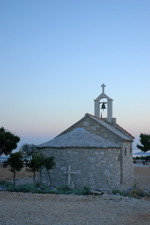 Chapel near the Adriatic Sea, nature park Stock Photo - 4104630