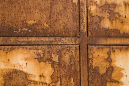 degrade: Rusty metal great as a background