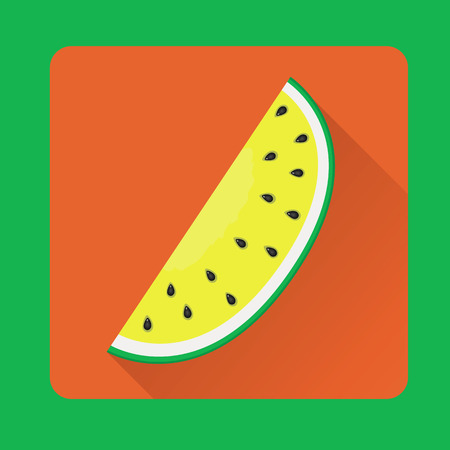 watermelon slice: Vector illustration of watermelon slice in flat style