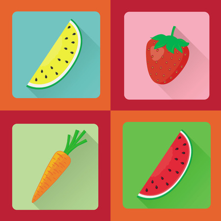 passion  ecology: Vector set of different flat design icon