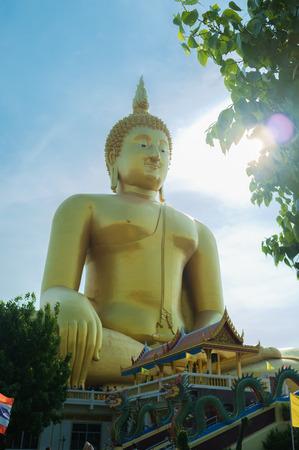 ang thong: Wat Muang, Ang Thong, Thailand. Stock Photo