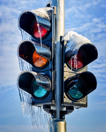 Frozen Traffic Light photo